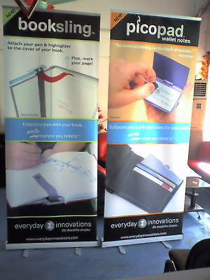 4 of Roll Up Retractable Stand Banners W/ FREE printing