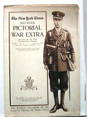 1914 NY TIMES Mid-Week Pictorial # 14 PRINCE OF WALES