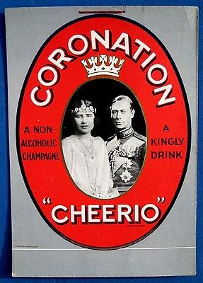 Cheerio UK n/a drink cardboard MINT poster sign 1937