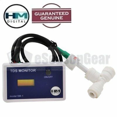 "HM Digital SM-1 In-Line Single Water TDS PPM Monitor Mter/Tester, 1/4"" Tee"