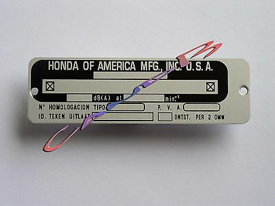 Plaque     Honda   Of  America