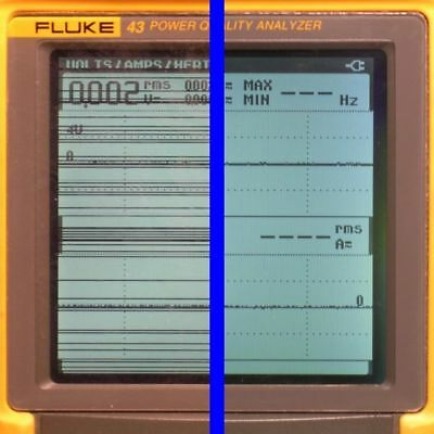 Fluke 43, 43B Power Analyzer LCD Display Line Repair