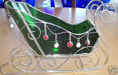 Glass Sleigh Candle Holder