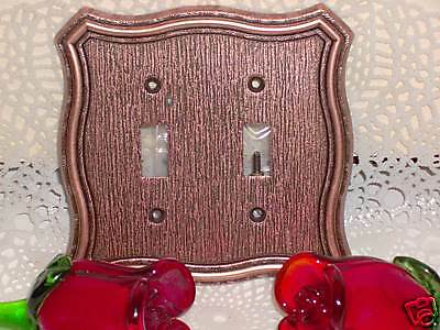 Vintage Antique Style Copper Color Double Switch Cover