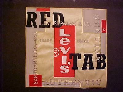 **LEVI'S RED TAB** Large 7.5 inch square JACKET PATCH