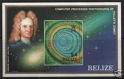 Belize 1986 Halley's Comet MS SG 916 MNH