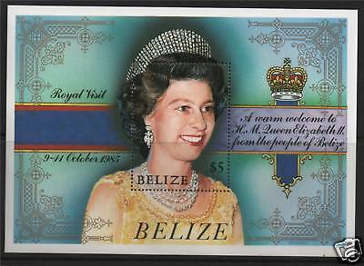 Belize 1985 Royal Visit MS SG865 MNH