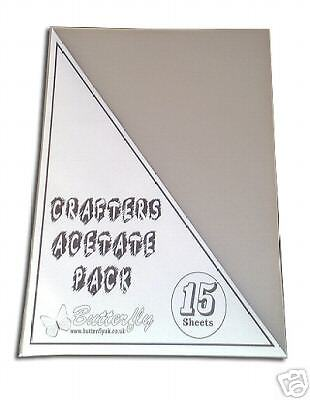 15 x A4 Transparency Acetate Sheets – Inkjet Printable