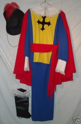 Adult Blue and Gold Musketeer Outfit - Men's XL!