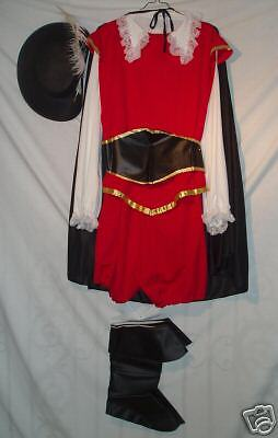 Adult Red, Black Musketeer - M/L!