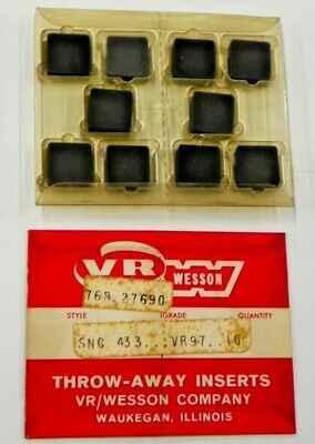 165 New Vr Wesson Sng 433 Vr97 Ceramic Inserts N522S