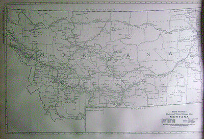 1921 Montana Commercial Mileage Map* w/ Mail Routes