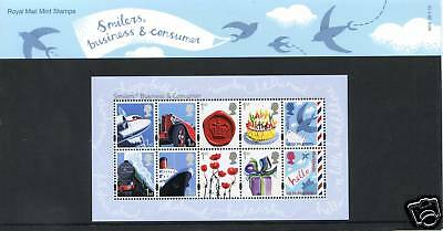 GB STAMPS Pres Pack 2010 Smilers Business & Cons. MNH