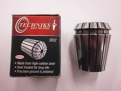 "Techniks Er32 Precision Collet 1/4"" T.i.r. .0002"""