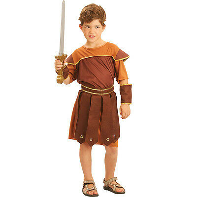 Child Roman Soldier Boy Complete #Outfit Ancient & Orient Fancy Dress All Ages