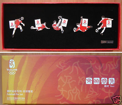 2008 Olympic Pins-Collectable Editions Football 5 Pcs