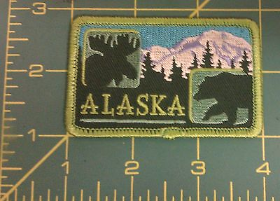 Embroidered Alaska Patch - moose - bear - Denali - new in package