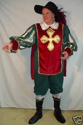 Adult Green, Gold & Maroon Musketeer - Large!