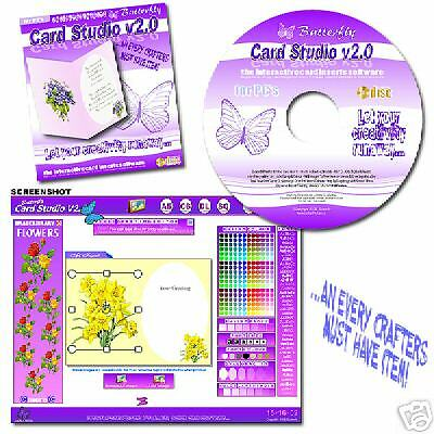 V2.0 Card Inserts Studio CD Rom For Card Making Craft