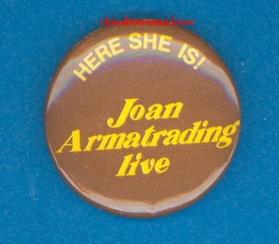 Joan Armatrading Australian 1980 pinback button badge z
