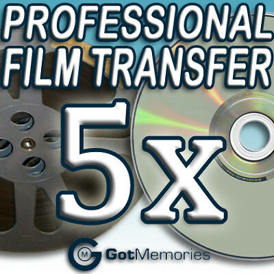 5X 5INCH 200FT 8MM 16MM SUPER 8 MOVIE FILM TO DVD $140
