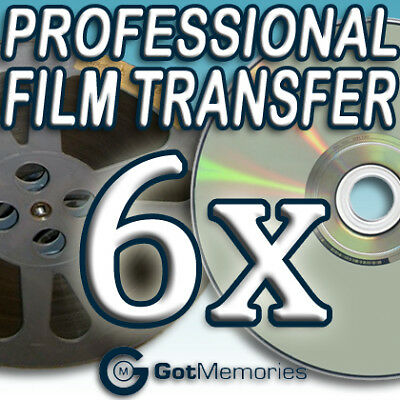 6X 5INCH 200FT 8MM 16MM SUPER 8 MOVIE FILM TO DVD $168