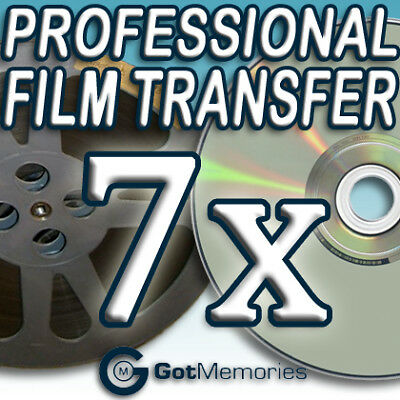 7X 5INCH 200FT 8MM 16MM SUPER 8 MOVIE FILM TO DVD $196