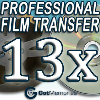 13X 5INCH 200FT 8MM 16MM SUPER 8 MOVIE FILM TO DVD $364