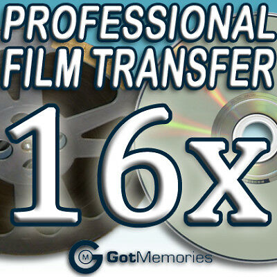 16X 5INCH 200FT 8MM 16MM SUPER 8 MOVIE FILM TO DVD $448
