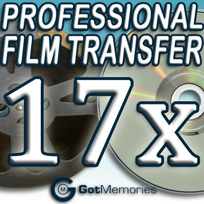 17X 5INCH 200FT 8MM 16MM SUPER 8 MOVIE FILM TO DVD $476