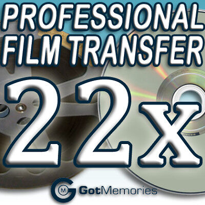 22X 5INCH 200FT 8MM 16MM SUPER 8 MOVIE FILM TO DVD $616