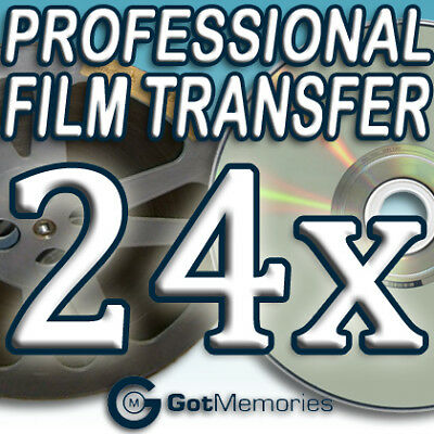 24X 5INCH 200FT 8MM 16MM SUPER 8 MOVIE FILM TO DVD $672