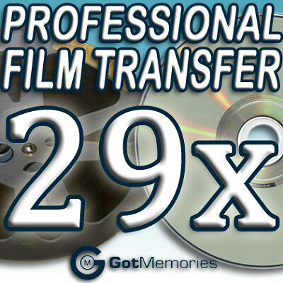 29X 5INCH 200FT 8MM 16MM SUPER 8 MOVIE FILM TO DVD $812