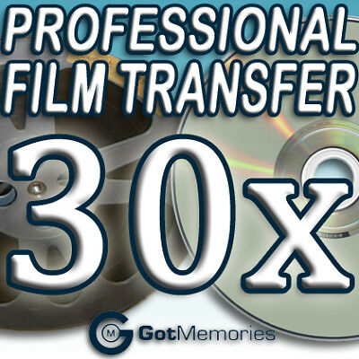 30X 5INCH 200FT 8MM 16MM SUPER 8 MOVIE FILM TO DVD $840