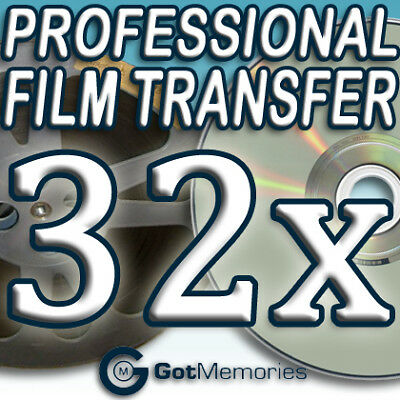32X 5INCH 200FT 8MM 16MM SUPER 8 MOVIE FILM TO DVD $896