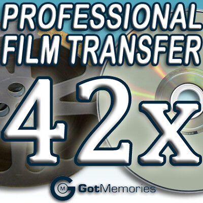 42X 5INCH 200FT 8MM 16MM SUPER8 MOVIE FILM TO DVD $1176