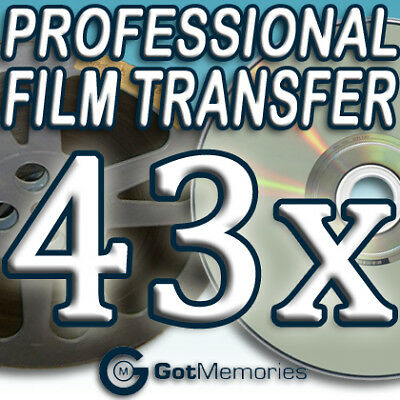 43X 5INCH 200FT 8MM 16MM SUPER8 MOVIE FILM TO DVD $1204