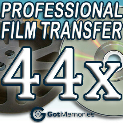 44X 5INCH 200FT 8MM 16MM SUPER8 MOVIE FILM TO DVD $1232