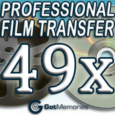 49X 5IN 200FT 8MM 16MM SUPER 8 MOVIE FILM TO DVD $1372