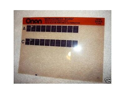 Onan Montgomery Ward 4.0 & 6.5 KW Portable Parts Manual
