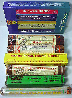 tantric cedar ~ 10 HQ TIBETAN INCENSE ~ healing blends