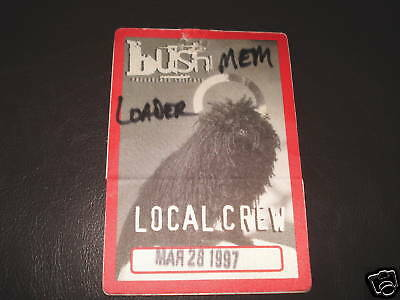 Bush 1997 Razorblade Tour Backstage Concert  Pass