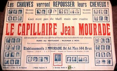 1920 Ad Poster - Quack French Doctor Hair Restoration A