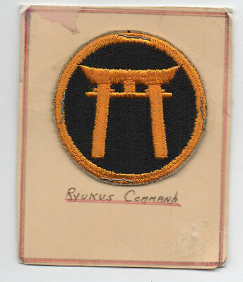 WWII US Military Patch Ryukus Command w/ Temple