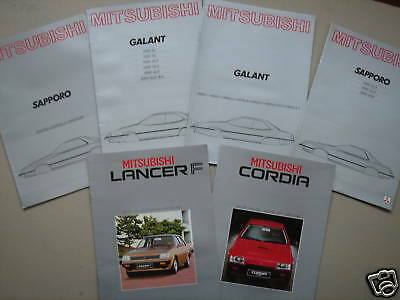MITSUBISHI  set of 6 brochures from the early eighties.