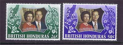 British Honduras 1972 Silver Wedding SG341/2 MNH