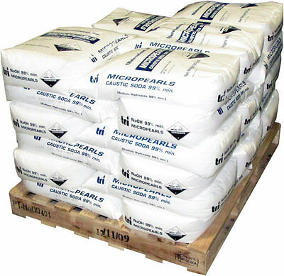 250 lb Sodium Hydroxide Caustic Soda Micropearls naoh