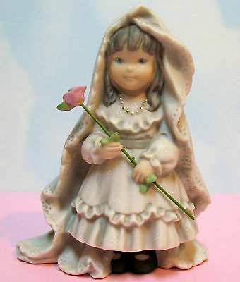 PRETTY AS A PICTURE BRIDE  w/ PINK ROSE~ PROMISES OF LOVE ~ # 323764  NIB