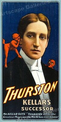 Thurston Kellar's Successor 1908 Vintage Style Magic Show Poster - 24x48
