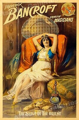 Frederick Bancroft - Slave Girl of the Orient - 1895 Magic Poster - 24x36
